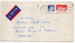 Roumanie-1985-Lettre De BRASOV Pour ANCY LE FRANC (France) -Composition De Timbres -cachet - 1948-.... Républiques