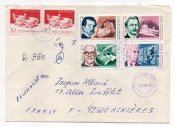 Roumanie-1989-Lettre Recommandée Pour NANTES (France) -Composition De Timbres (recto-verso) -cachet BUCARESTI - 1948-.... Républiques