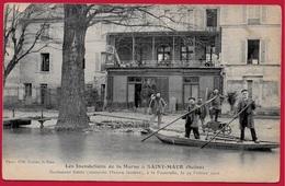CPA 94 St SAINT-MAUR - Les Inondations De La Marne (Février 1910) Restaurant Emile à La Passerelle ° Photo Reitter 1798 - Saint Maur Des Fosses