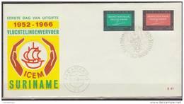 Suriname, 1966, Refugee Transport, ICEM, E41, FDC - Rifugiati