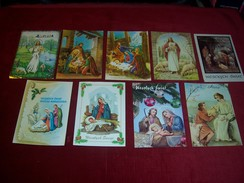 LOT DE 9  CARTES  THEME  DE LA RELIGION CHRISTIANISME   °° CARTES DE POLOGNE AVEC DESTINATION POUR LE ROYAUME UNI - Jésus