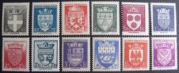LOT 925 - 1942 - ARMOIRIES DE VILLES - N°553 à 564 NEUFS** - Cote : 60,00 € - Unused Stamps
