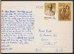 °°° 8393 - NEPAL - MT. MACHHAPUCHHARE AND PHEWA - 1980 With Stamps °°° - Nepal