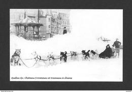 QUÉBEC - VILLE DE QUÉBEC - CHÂTEAU FRONTENAC SUR LA TERRASSE DUFFERIN TRAINEAU À CHIENS - Québec - Château Frontenac