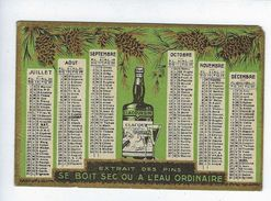 Calendrier Petit Format Année 1933 Publicité Apéritif Clacquesin - Calendars