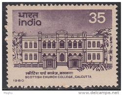 India MNH 1980,  Scottish Church College, Education , Monument - Inde