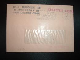 LETTRE OBL.OBL.MEC.11-2-1983 CHARTRES CENTRE DE TRI (28) CENTRE MOBILISATEUR AIR DE RESERVE GENERALE N°229 - Marcophilie (Lettres)