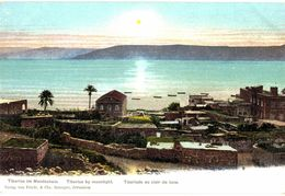 CPA N°9493 - TIBERIAS IM MONDSCHEIN + TIBERIAS BY MOONLIGHT + TIBERIADE AU CLAIR DE LUNE - Palestina