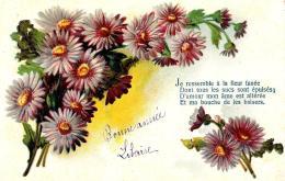 [DC10771] CPA - FIORI - AUGURALE - Viaggiata - Old Postcard - Fiori