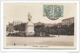ANCONA - PIAZZA CAVOUR  VIAGGIATA FP - Ancona