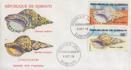 Enveloppe  FDC  1er  Jour   DJIBOUTI    Coquillages   1978 - Djibouti (1977-...)