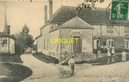 10 Braux Le Grand, Ecole Et Mairie, Animée, Groupe De Femmes Et Enfants, Homme Avec Brouette..., Affranchie 1912 - France