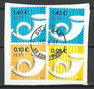 ESTLAND Estonia Posthorn Auf Dem Briefstück O 2017 - Estonia