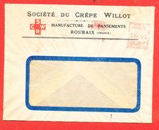 ROUBAIX Societe Du Crepe WILLOT Envleppoe Vide Manufacture Pansement - France