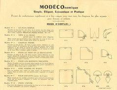 Plan Pour Confectionner Des Chapeaux MODECOnomique Imp Roanne - Planches & Plans Techniques