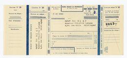 CHEQUE DE L'OFFICE DES PTT DE RABAT (ANNÉE 1951) UTILISÉ SOUS LE PROTECTORAT DE LA RÉPUBLIQUE FRANÇAISE AU MAROC - GOUVE - Cheques & Traverler's Cheques