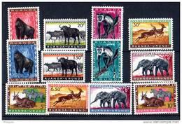 Ruanda-Urundi 1959, Animaux Sauvages 205 / 216**, Cote 5 €, - Sellos