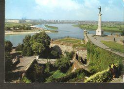 K2 Yugoslavia Duvan BEOGRAD Kalemegdan View Postcard - Park The Fortress Monument - Yugoslavia