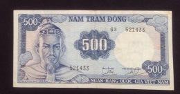 South Vietnam Viet Nam 500 Dongs Tran Hung Dao EF Banknote 1966 - Pick#23 / 2 Photo - Vietnam