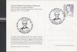 3180   Postal Mantova 2002 , Martiri Di Belfiore , Don Enrico Tazzoli - 2001-10: Marcophilie