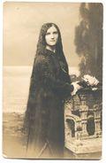 GIRL FASHION - LONG HAIR, HAIRDO, REAL PHOTO PC, ATELIER ANDRIONI  RIJEKA / FIUME, 1913. - Women