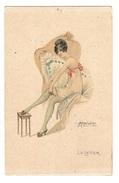 Illustrateur M. CHERUBINI - FEMME - MODE - WOMAN - FASHION - Le Lever - Stampa Milano 3686 - 959/1 - Femmes