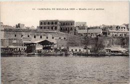 ESPAGNE -- MELILLA --  Campana 1909 - Muelle Civil Y Militar - Almería
