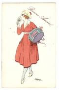 Illustrateur EDY - FEMME - MODE - CHAPEAU - WOMAN - FASHION - HAT - Bonne Année - Papier Tyme Canson - Ed. J. Picot - Femmes