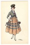 Illustrateur EDY - FEMME - MODE - CHAPEAU - WOMAN - FASHION - HAT - Ed. J. Picot, Paris - N° 68 - Femmes