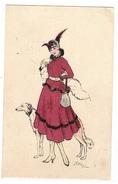 Illustrateur EDY - FEMME Et Son CHIEN - MODE - CHAPEAU - WOMAN And Her DOG - FASHION - HAT - Ed. J. Picot, Paris - N° 42 - Femmes