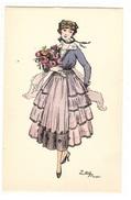 Illustrateur EDY - FEMME - MODE - CHAPEAU - WOMAN - FASHION - HAT - Ed. J. Picot, Paris - N° 67 - Femmes