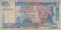 BILLETE DE SRY LANKA DE 50 RUPEES DEL AÑO 1992  (BANKNOTE) - Sri Lanka