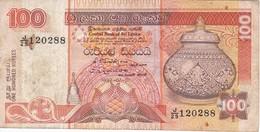BILLETE DE SRY LANKA DE 100 RUPEES DEL AÑO 1992  (BANKNOTE) - Sri Lanka