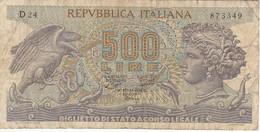 BILLETE DE ITALIA DE 500 LIRAS DEL AÑO 1970 -MEDUSA  (BANKNOTE) - 500 Lire