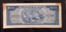 Cambodia Cambodge 100 Riels AU Banknote 1956 - P#13 - Cambodia