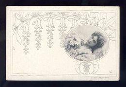 Carte Postale Illustree: Femme. Reutlinger. Art Nouveau (Ref. 113344) - Illustratori & Fotografie