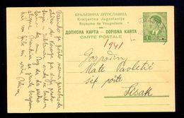 Croatia (NDH) WWII - Stationery From Kingdom Of Yugoslavia Used During The NDH From Krasica To Sisak 1941. / 2 Scan - Croatia