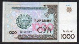 528-Ouzbekistan Billet De 1000 Sum 2001 ED003 - Ouzbékistan