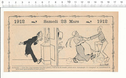 2 Scans Humour De 1912 Tremblement De Terre Sismographe Danse Mode Dame Robe Et Culotte 216PF3 - Zonder Classificatie