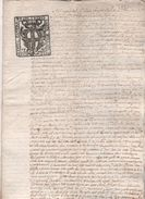 Documento Tribunale Di Genova Su Carta Bollata Repubblica Di Genova Da 10 Soldi. 1779 - Vieux Papiers