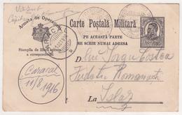 Guerre 14-18  -  Cartes De Franchises Militaires Roumaines - Roumanie/Romania - Oblitéré Et écrite Etat Moyen - Postmark Collection