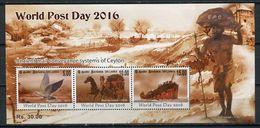 Sri Lanka 2016 Ceylan / World Post Day MNH Día Mundial Del Correo / Cu4419  40-28 - Correo Postal
