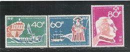 POLINESIA FRANCESE - 1968: 3 Valori Nuovi Stl Di P.A.- BICENTENARIO DELLA SCOPERTA DI TAHITI - In Ottime Condizioni. - Posta Aerea
