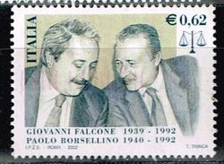 Italien 2002, Michel# 2846 O Falcone And Borsellino - 2001-10: Used