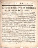 JOURNAL ANCIEN  GAZETTE DU 25 MAI 1794    4 PAGES DE NOUVELLES D'EUROPE ET DE FRANCE    TB - Journaux - Quotidiens