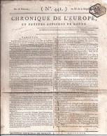 JOURNAL ANCIEN  CHRONIQUE ... DE  ROUEN  DE 18 PLUVIOSE AN IX (1801) - Journaux - Quotidiens