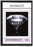 ÖSTERREICH 2015 ** DIAMANT - Edelstein, Mineralien - PM Personalized Stamp MNH - Autriche
