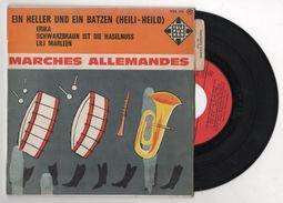 45 T MARCHES MILITAIRES ALLEMANDES WW2 - HEILI-HEILO - LILI MARLEEN - ERIKA - SCHWARZBRAUN IST DIE HASELNUSS - Vinyl Records