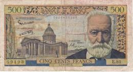 BILLETE DE FRANCIA DE 500 FRANCOS DEL 7-2-1957 DE VICTOR HUGO  (BANKNOTE) - 1871-1952 Antichi Franchi Circolanti Nel XX Secolo