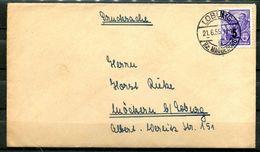 """DDR,GDR 1955 Drucksachen Bedarfsbrief/Cover Mit Mi.Nr435 (overprint) Und Tstp""""Loburg,Bz.Magdeburg"""" 1 Beleg - Covers"""